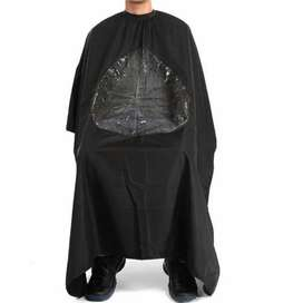 HS Baju apron untuk potong rambut di salon / barber tengan transparan