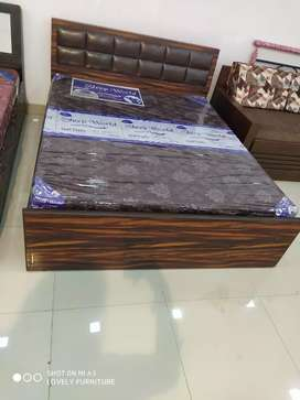 EMI AVAILABLE.new ply double bed with matress in direct factory price.