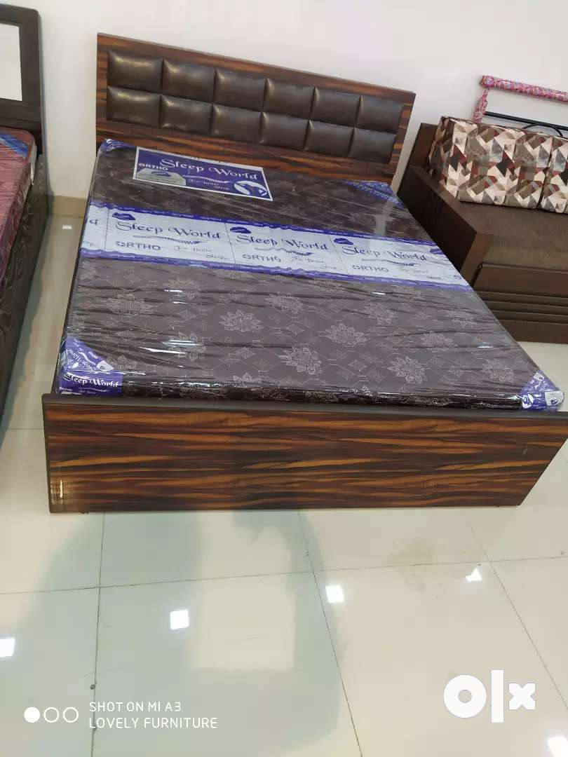 EMI AVAILABLE.new ply double bed with matress in direct factory price. 0