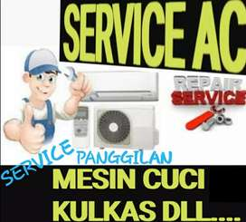 SERVIS AC/SERVICE AC KULKAS MESIN CUCI BONGKAR PASANG AC BERGARANSI