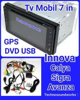 Tv 7 in khusus Innova calya Sigra GPS DVD double din tape for sound