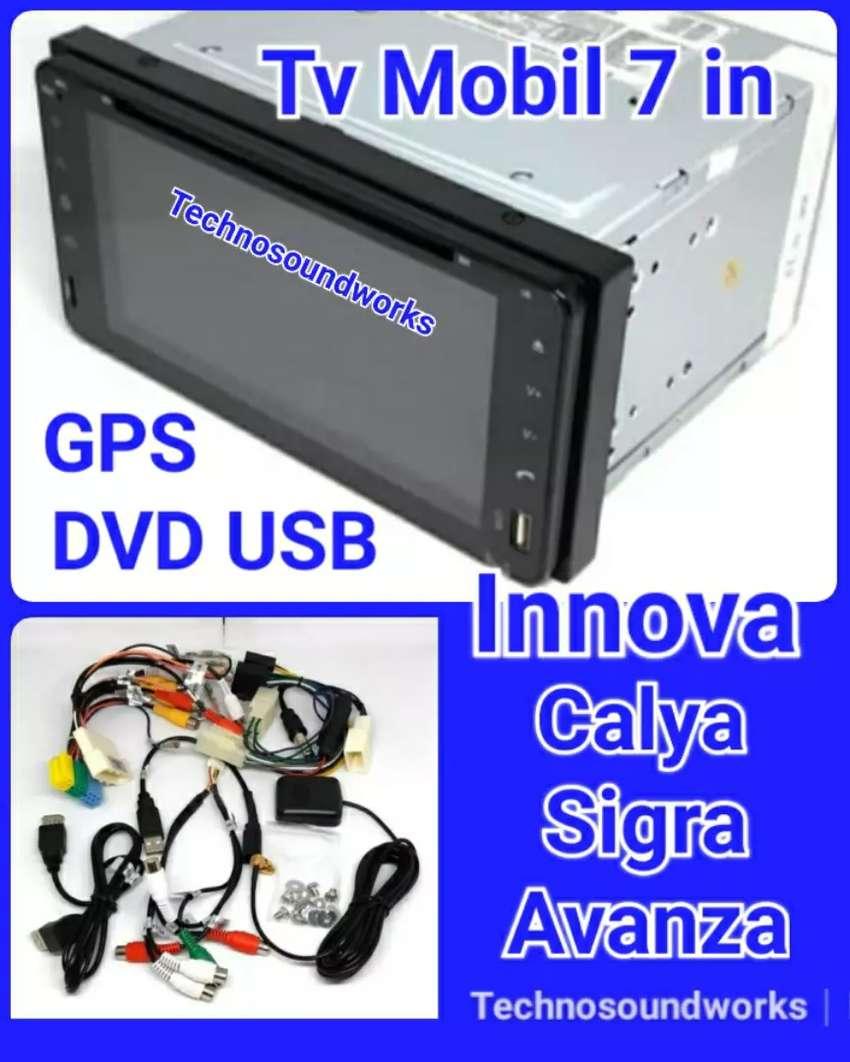 Tv 7 in khusus Innova calya Sigra GPS DVD double din tape for sound 0