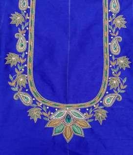 Aari work flower design