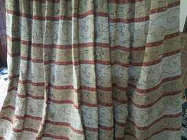 Valvid curtains red colour