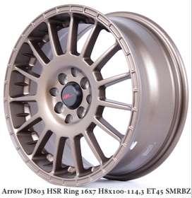 Velg Racing HSR ARROW R16 lebar 7 Buat Mobil Avanza,Freed,Mobilio
