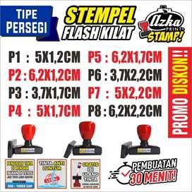 STEMPEL FLASH KILAT / OTOMATIS TINTA (TIPE PERSEGI)