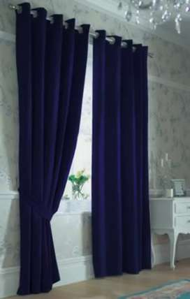 Blue colour curtains available and other different curtains available
