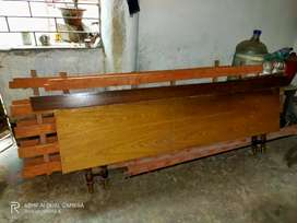 6x7 Wooden Bed