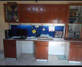 Study table with cupboard