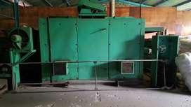 Mesin setting kain bisa jalan langsung dua rangka.