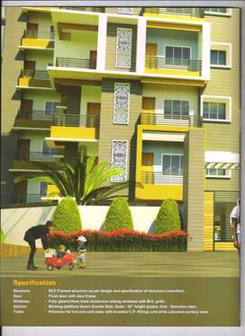 3 bhk new flat at hatia available for sale 37.41 lac