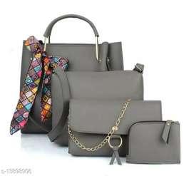 TWN Combo Handbag With Sling Bag, Chain Bag, Coin Pouch