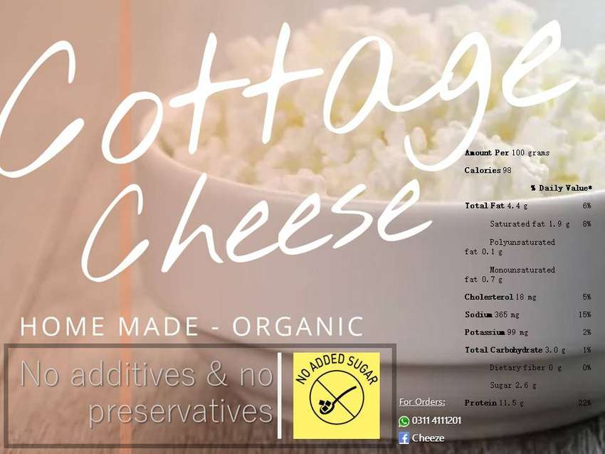 Cottage Cheese (Home made - Organic) 0