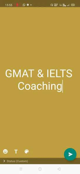 GMAT & IELTS coaching available at low costs.