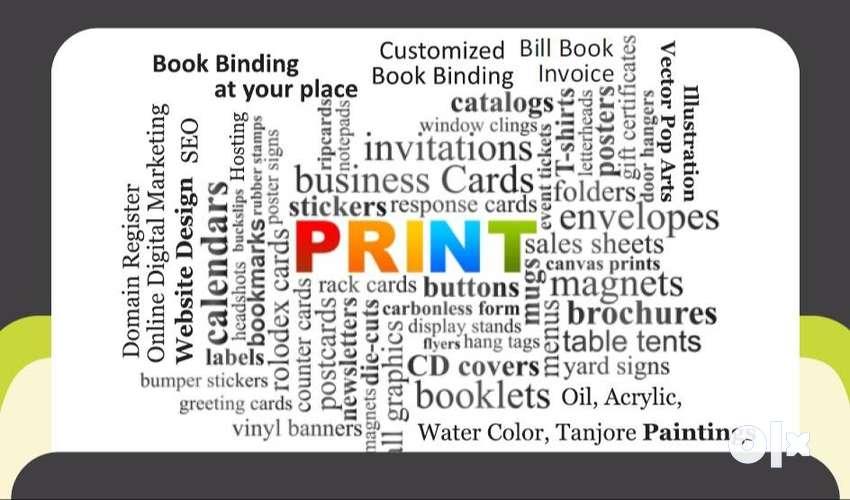 Brochure, Flyer, Bill Book, Visiting Card, Envelop, Pamphlet, ID-card, 0