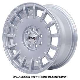 Harga Pelek RALLY HSR R15X7 H8X100-114,3 ET38 SILVER