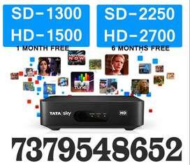 TATA SKY SALE NEW TATASKY HD SD DTH BOX Installation 4 hrs Airtel Dish