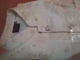 Nehru Elite Jacket ( Silver/Cream )