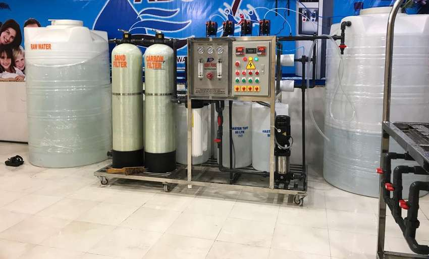 Mineral water complete plant. Reverse osmosis plant. RO plant