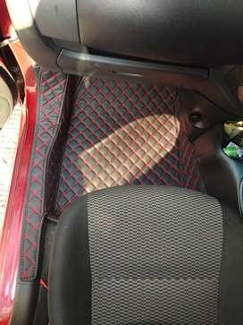 karpet lantai mobil for Nissan March Th 2011-2017 full set +bagasi