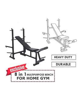 Eight in one bench incline decline flat heavy bench
