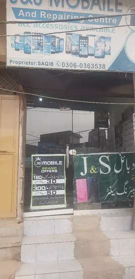 mobile shop for sale with counter and accerories