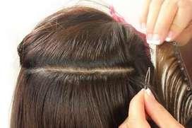 Hair wig weaving job