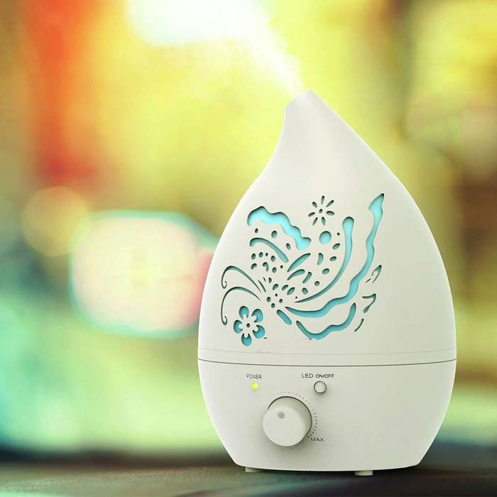 Carved Design Air Humidifier Ultasonic Aroma Diffuser - 1.3L 0