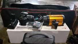Kamera 60D + lampu studio 200 watt