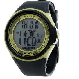 Sonata Ocean Series Digital Grey Dial Men's Watch