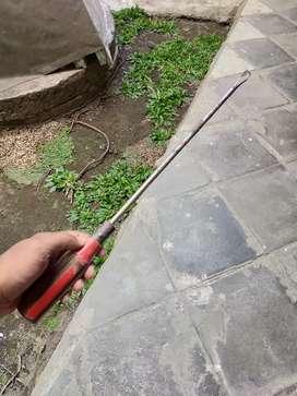 Obeng Minus Pegangan Kayu Jadul pjg 43cm