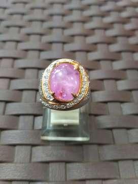Cincin Perak Batu Safir