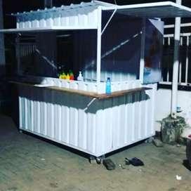 Booth semi kontainer murah