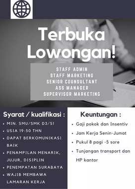 Dibutuhkan segera staff marketing & telemarketing