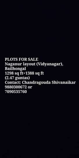 2 N/A  residential plots for sale, Bailhongal town
