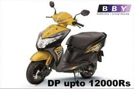 Honda Dio at Lowest Down Payment and Rate of Interest