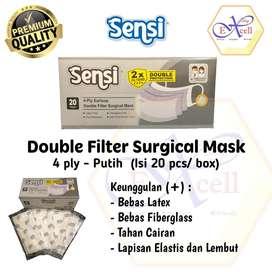 Masker Sensi 4ply double protection 1 box isi 20sheet