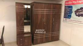 3 door Wardrobe And Dressing Table 6/2ft