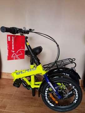 Sepeda Lipat Genio 16 Inch  7 Speed Rem Cakram