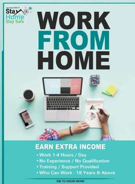 Work from home male nd female