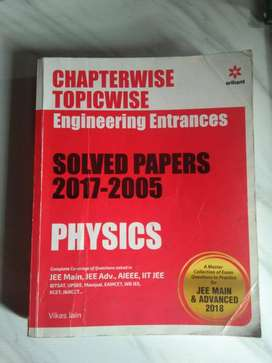 arihant chapterwise topicwise jee exam solved paper physics 2005-2017
