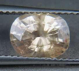 Rare Peach sapphire safir 1.98ct clean crystal and good luster HQ