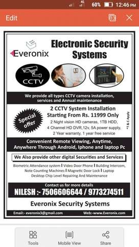 We Do All types of CCTV installation in