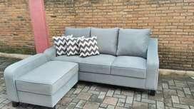 Sofa minimalis tamu charcoal