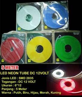 Lampu Variasi LED STRIP NEON Sign FLEXible Selang 5 Meter 12volt 12v