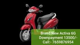 Activa 6G Brand New 13500/-