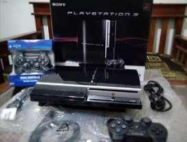 Dijual PS3 Fullset isi 100 game siap main+ 2 Stik wirless