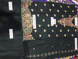 3pc linen embroidery