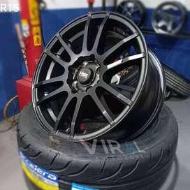 Pelek Racing Velg Mobil Plus Ban Accelera 651 Sport Ring 15 Termurah