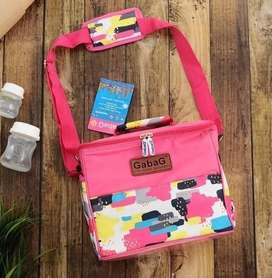 Tas Cooler Bag Gabag Pink untuk penyimpanan ASI